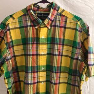 Ralph Lauren classic fit plaid men's shirt Sz XL